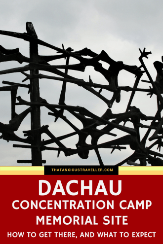 Visiting Dachau Concentration Camp Memorial Site - it's important, if not pleasant, to bear witness to the darkest places in humanity's history. Dachau, near Munich, is one of those. Upsetting but educational, and now a place to pay your respects to those who were imprisoned here, read on for a guide on visiting Dachau, how to get there, and what to expect. https://thatanxioustraveller.com #europe #travel #munich #dachau #history