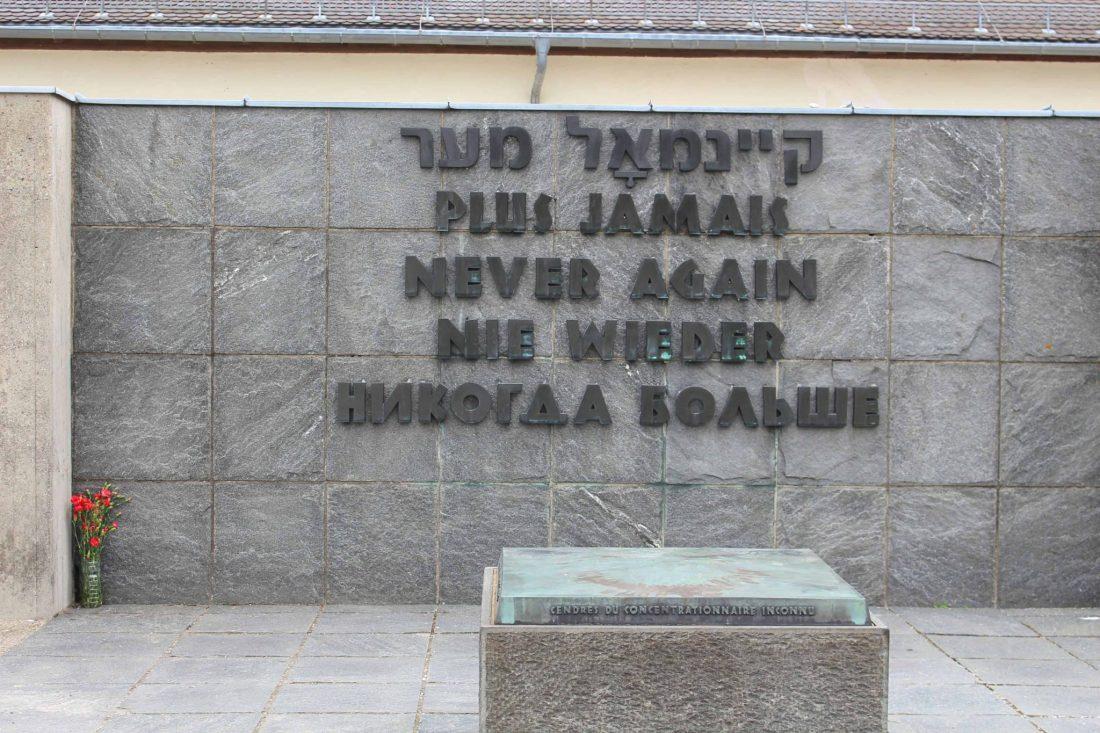 Dachau Never Again. Visiting Dachau Concentration Camp Memorial Site https://thatanxioustraveller.com #europe #travel #munich #dachau #history