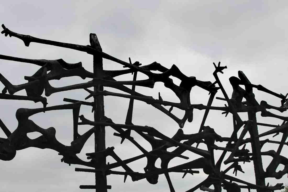 Dachau Sculpture. Visiting Dachau Concentration Camp Memorial Site https://thatanxioustraveller.com #europe #travel #munich #dachau #history