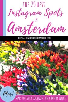 The 20 Most Instagrammable Places in Amsterdam. The best photo spots in the Dutch capital - canals! Tulips! Windmills! Food! Also includes maps to every location and useful websites! #amsterdam #netherlands #europe #travel #photography #instagram