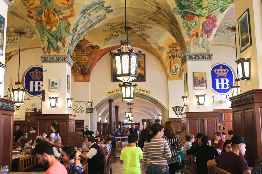 Hofbrauhaus, Munich. Things to do in Munich in one day - even though Munich is Germany's third biggest city, it's still possible to see its absolute highlights all in one day, leaving to time to explore the rest of Bavaria! Check out our guide to seeing it all, with handy information and maps! https://thatanxioustraveller.com #europe #germany #munich #travel #oneday