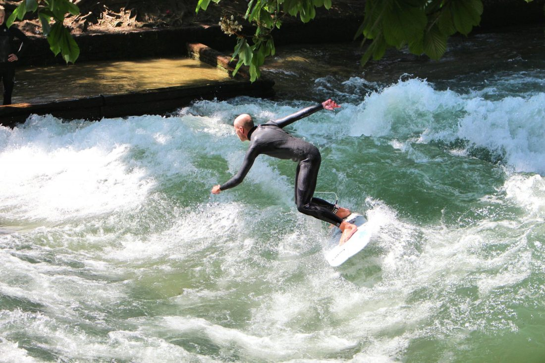 Munich surfers. Things to do in Munich in one day - even though Munich is Germany's third biggest city, it's still possible to see its absolute highlights all in one day, leaving to time to explore the rest of Bavaria! Check out our guide to seeing it all, with handy information and maps! https://thatanxioustraveller.com #europe #germany #munich #travel #oneday