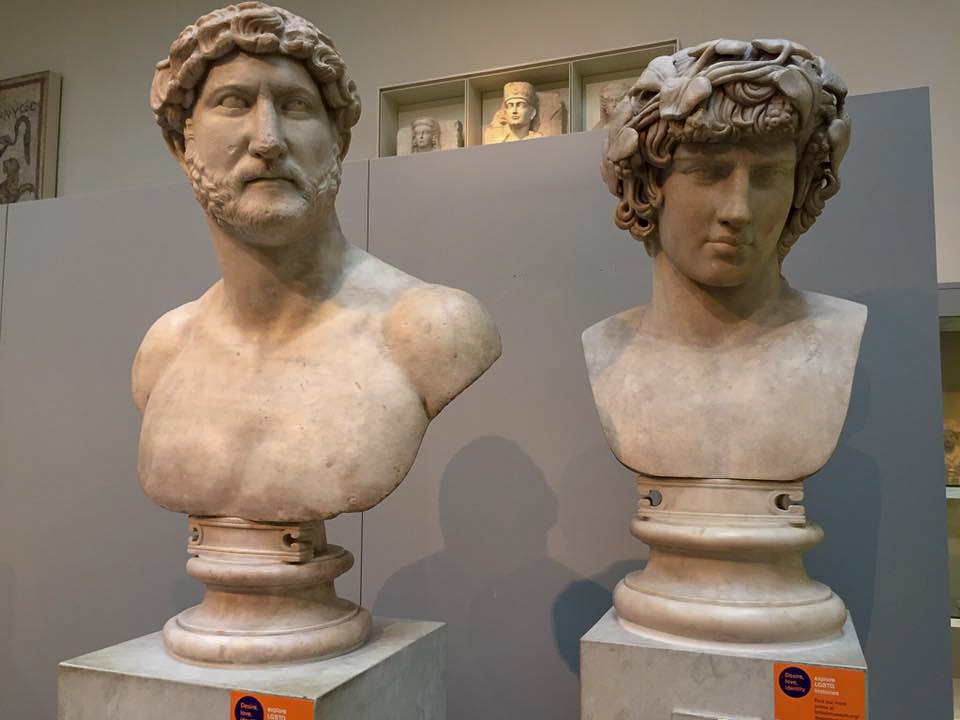 Busts of Hadrian and Antinous - British Museum