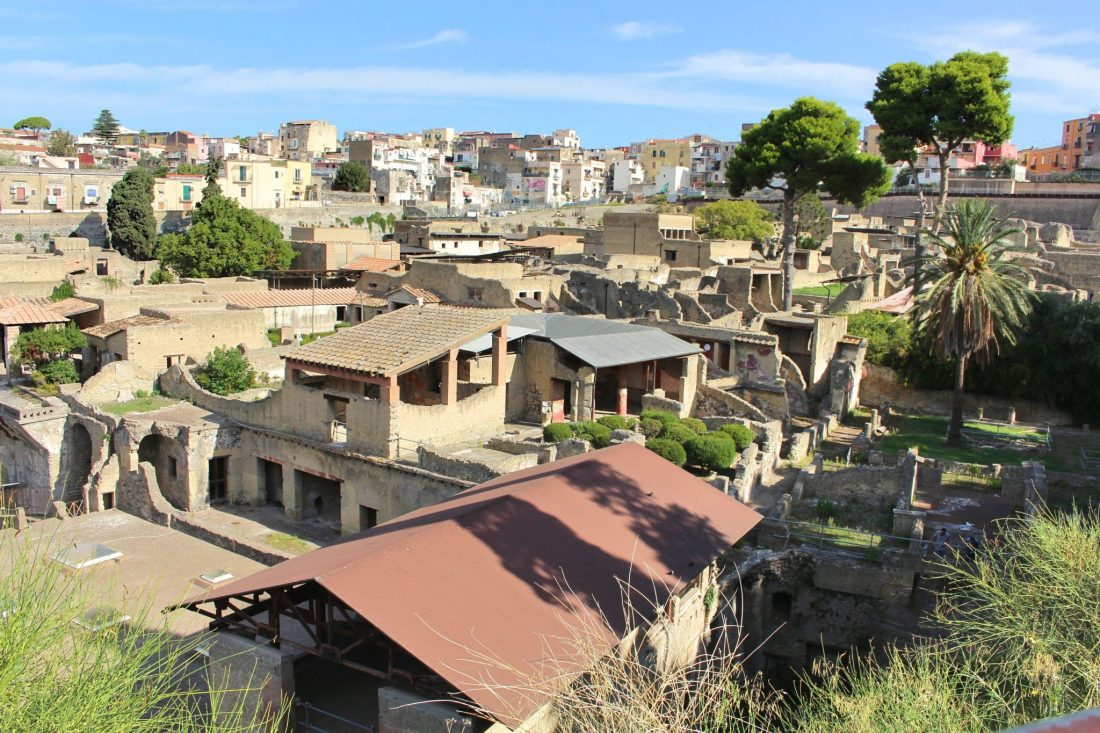 Aerial view of Herculaneum