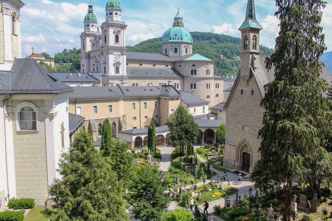 Salzburg itinerary - view of Petersfriedhof Cemetery