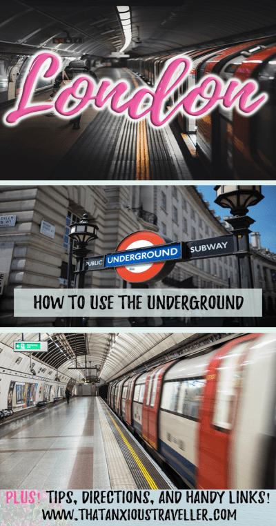 How to use the London Underground. Learn to travel London's Tube without worry or stress with this step by step guide. Contains tips, information, ticket information, maps, and insider hints. Perfect for visitors! https://thatanxioustraveller.com #london #underground #tube #tips