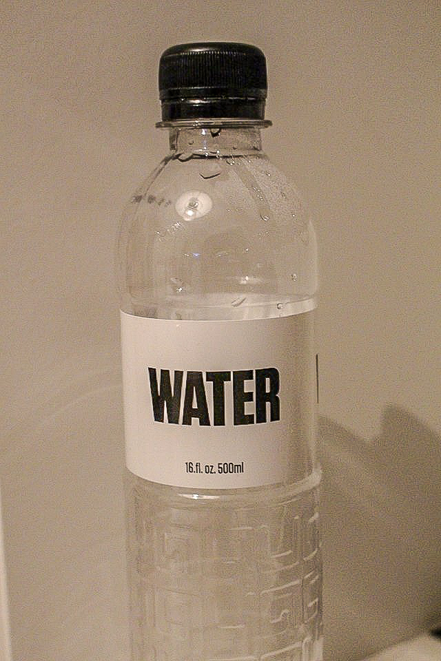 Bottle of water from the Museum of Communism, Prague