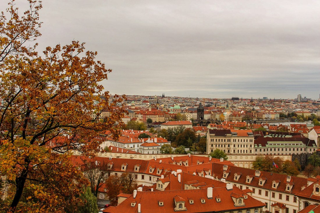 View of Prague in autumn