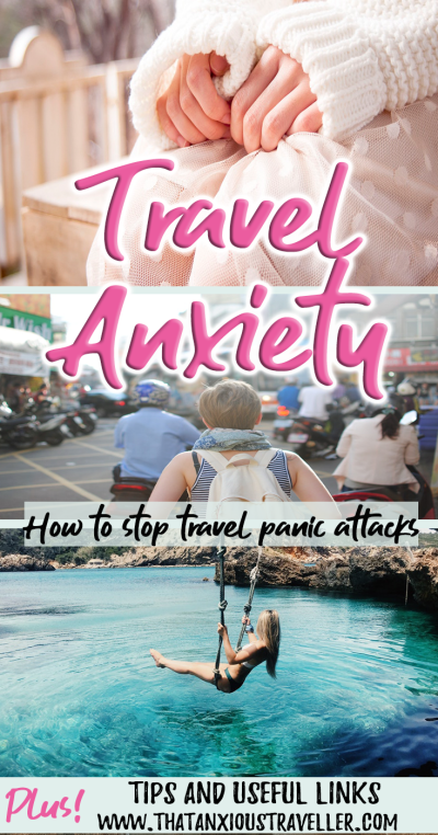 Do you experience panic attacks when travelling? Find out the best way to deal with them, whether it's pre-travel, at the airport, or when you're abroad. Get tips and anxiety help, and relax on your travels! https://thatanxioustraveller.com #travel #anxiety #help #panic #attacks