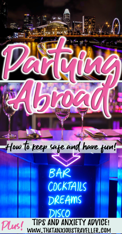 Want to go partying abroad, but letting anxiety stop you? Worried about fitting in with new friends, or losing control in an unfamiliar place when you've had too much to drink? Read these top tips on how to manage party anxiety, and enjoy your nights abroad! https://thatanxioustraveller.com #travel #party #anxiety #help #advice