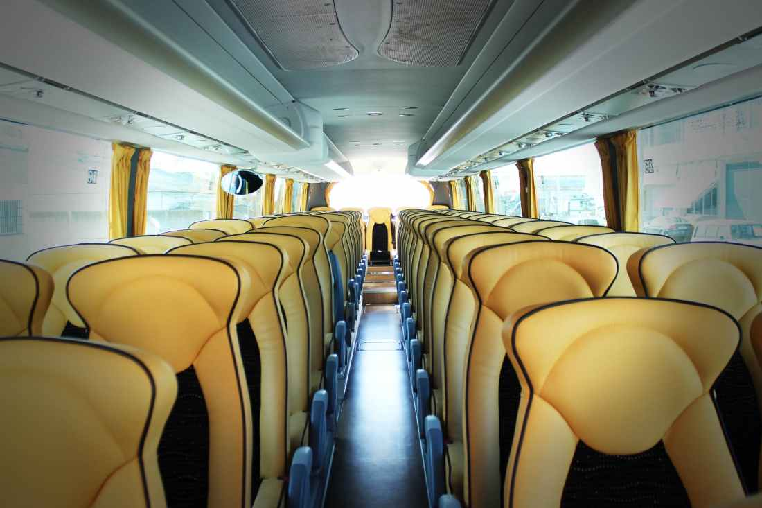 Empty seats on a bus - Sorrento on a budget