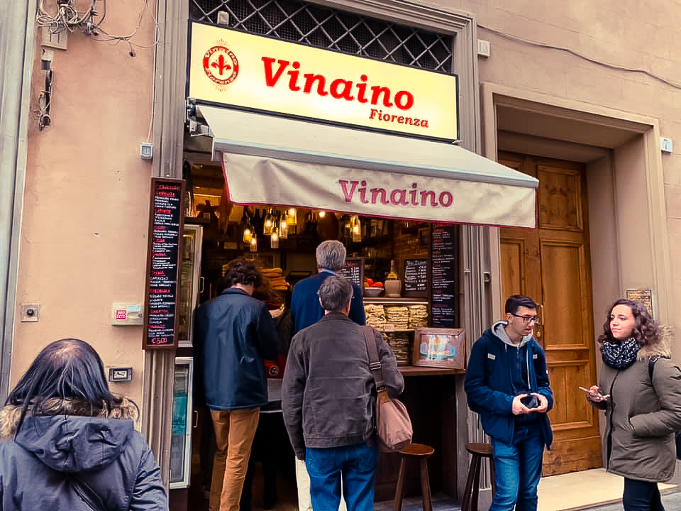 A sandwich shop in Florence, Italy - 2 days in Florence itinerary