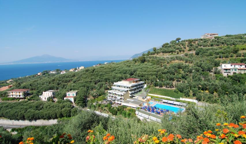 An aerial view of the Best Western Hotel La Solara - The best hotels on the Amalfi Coast for all budgets