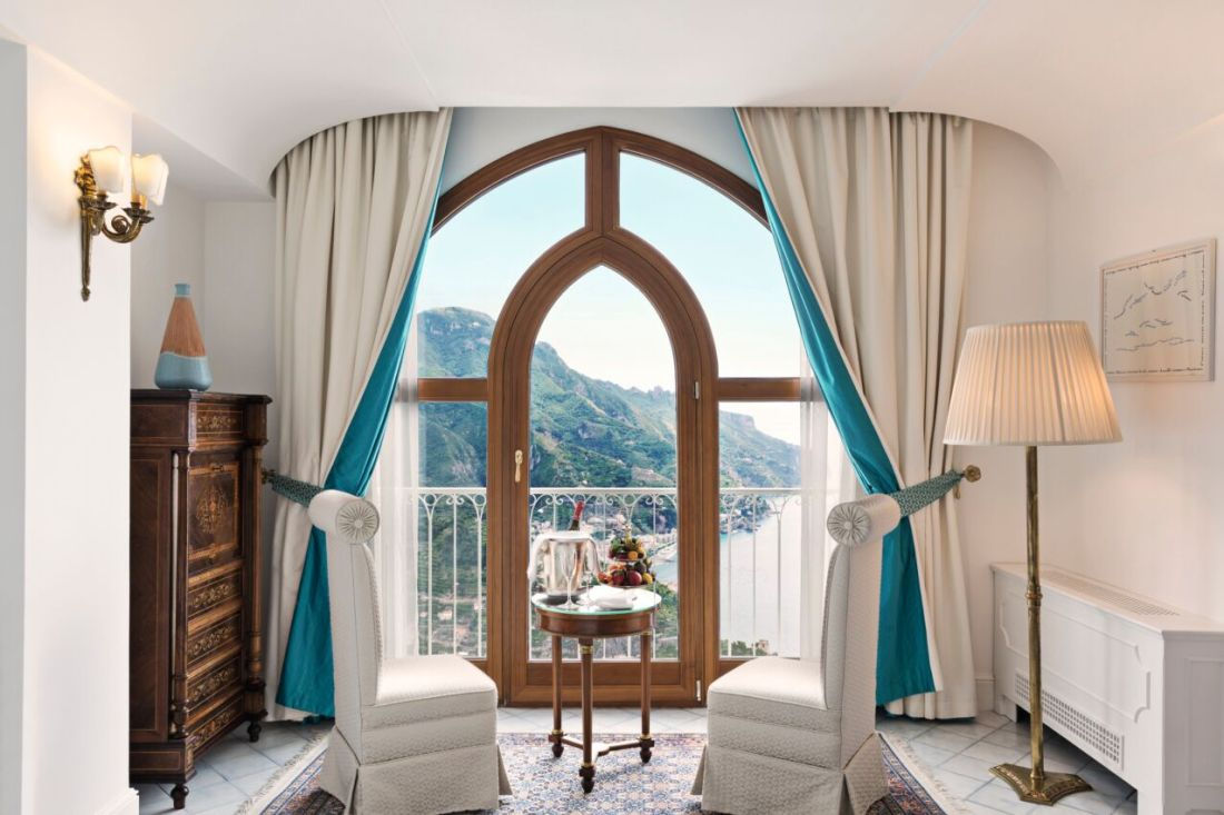 A beautiful hotel room at Palazzo Avino Ravello