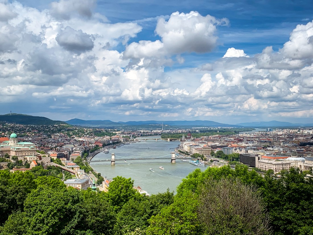A view of Budapest and the Danube River