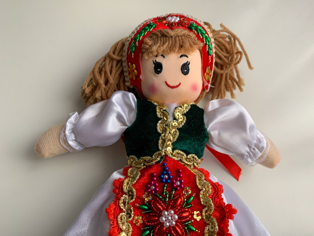 A traditional Hungarian doll, dressed in the national costume