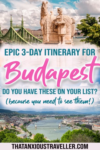 Check out this 3 days in Budapest itinerary! Learn the best things to do in Budapest, and where to stay in Budapest in order to make your three days in Budapest perfect. Plus tips on day trips from Budapest, Budapest nightlife and shopping for you to try! #budapest #itinerary #europe