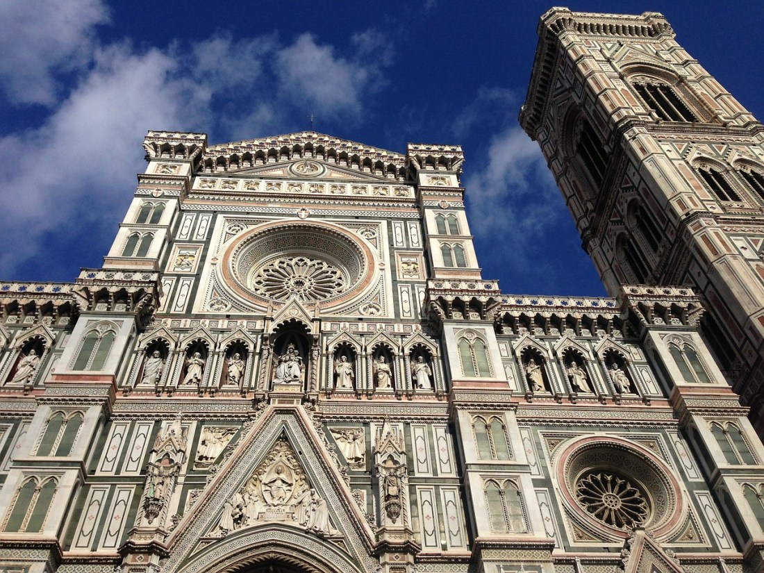 The outside of the Duomo in Florence. Italy quotes cannot convey the beauty of the building!