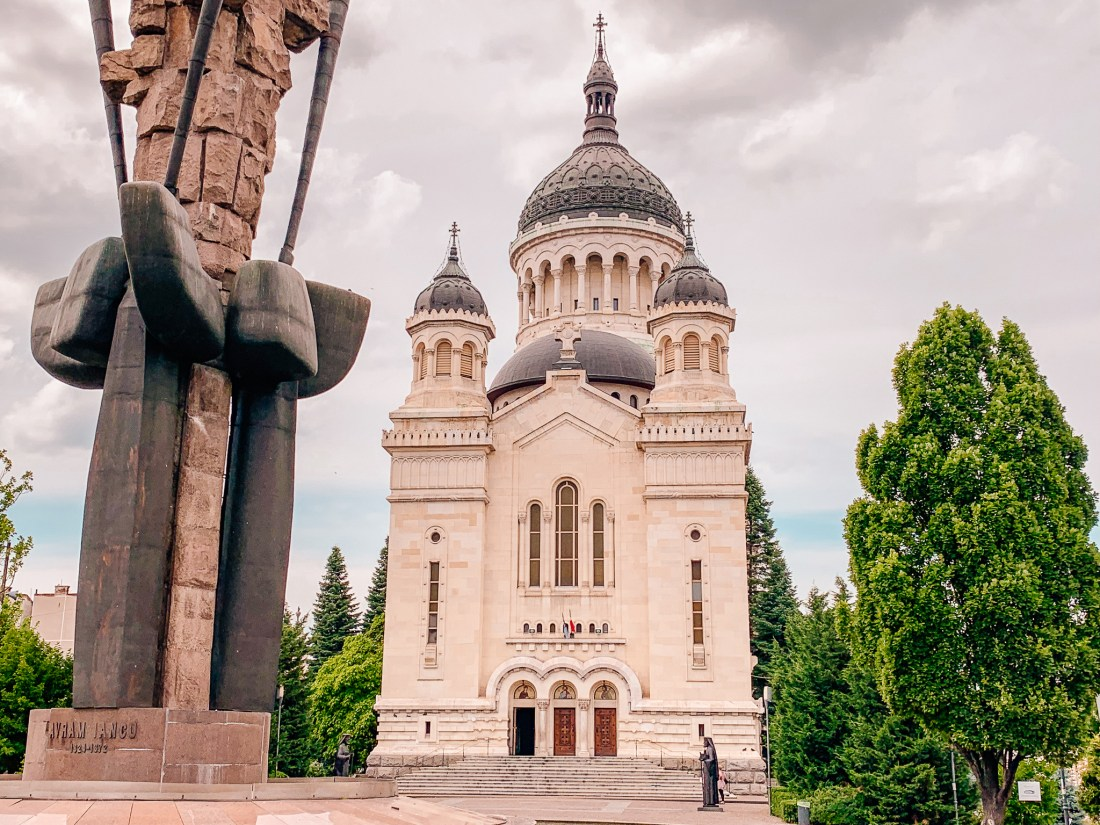 The Orthodox Cathedral in Cluj, based on the Hagia Sophia. It may not be an obvious choice of things to do in Cluj, but it well worth the trip.