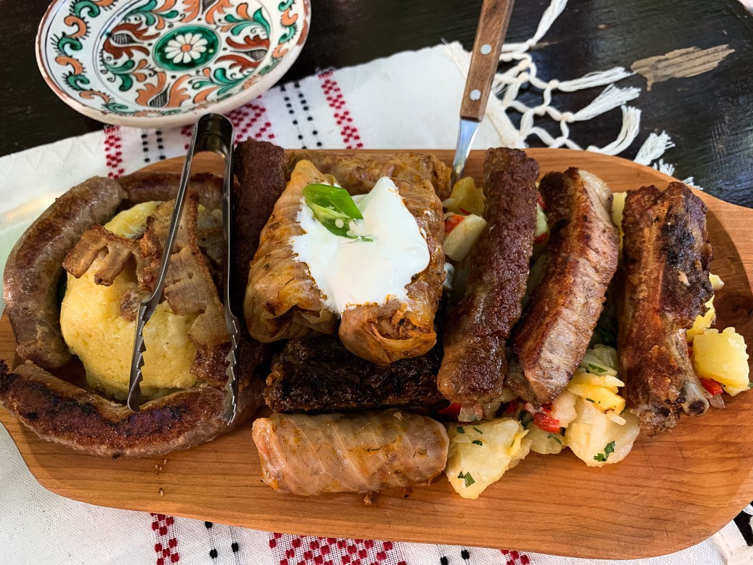 A delicious meat platter from Roata in Cluj, the best place to eat in Cluj-Napoca!