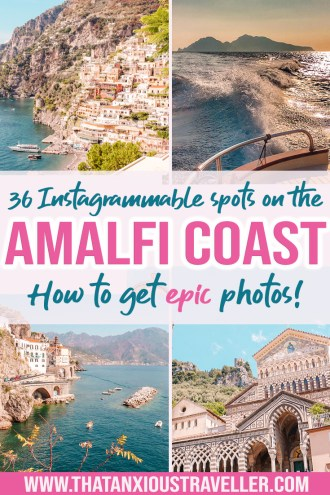 Try this guide to the 36 most Instagrammable spots on the Amalfi Coast, and make all your photography dreams come true! Featuring info on the most beautiful places in Positano, Capri, Amalfi and more, it's got everything you need - whether it's making the most of your Instagram feed, or wedding and honeymoon photography. Get some wanderlust for your Italy travel! #amalfi #coast #italy #instagram