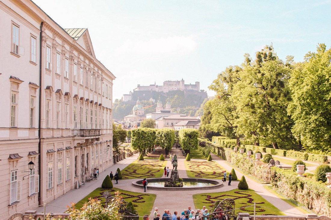 The Mirabell Palace and Mirabell Gardens, one of the best things to do in Salzburg. A day trip from Vienna must contain a visit here!