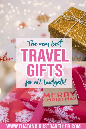 Looking for travel gifts for friends, for women, or for men? Searching for the perfect presents for travellers? Get the very best ideas for travel gifts here, with 47 gift inspirations! Whether you're looking for her, for him, for stocking fillers, or for travel gifts under $20, you'll find it here! #travelgifts #travel #gifts #ideas