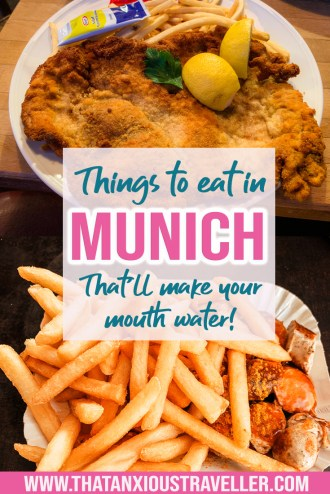 Want to try some traditional German food? Heading to Munich or Nuremberg? Learn what to eat in Munich and beyond with this guide! Whether you're visiting for Christmas markets or Oktoberfest, you'll find something you'll love - whether that's currywurst, lebkuchen gingerbread, schnitzel, or roast pork! Know what to eat in Germany! #germany #munich #nuremberg #foodie #travel
