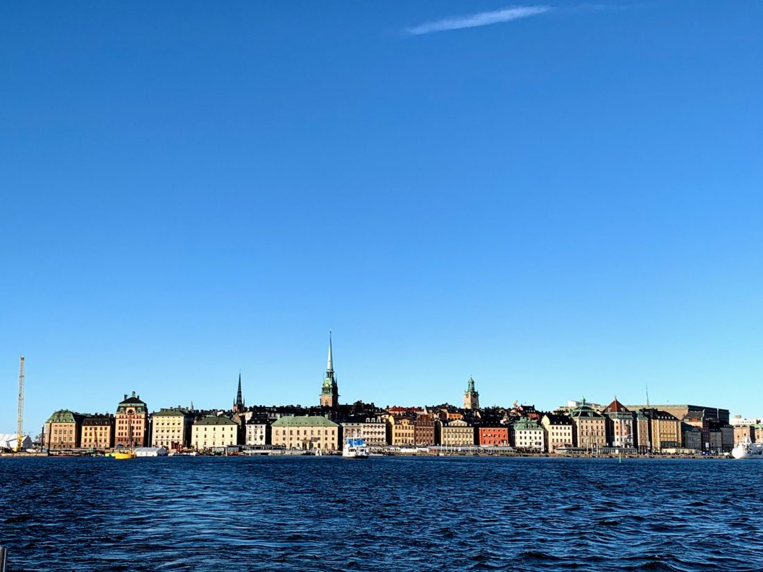 A view of Gamla Stan in Stockholm as seen from a boat tour