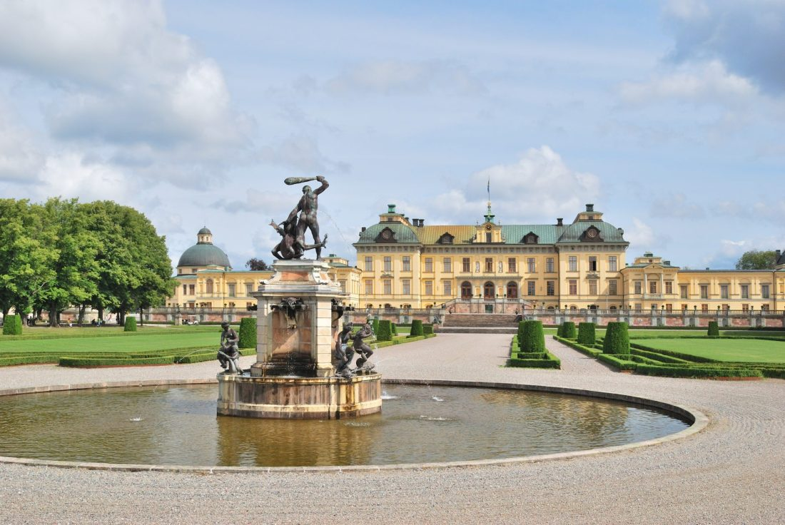 The manor house of Drottningholm Palace near Stockholm. A day trip here is a good idea for visiting Stockholm in winter