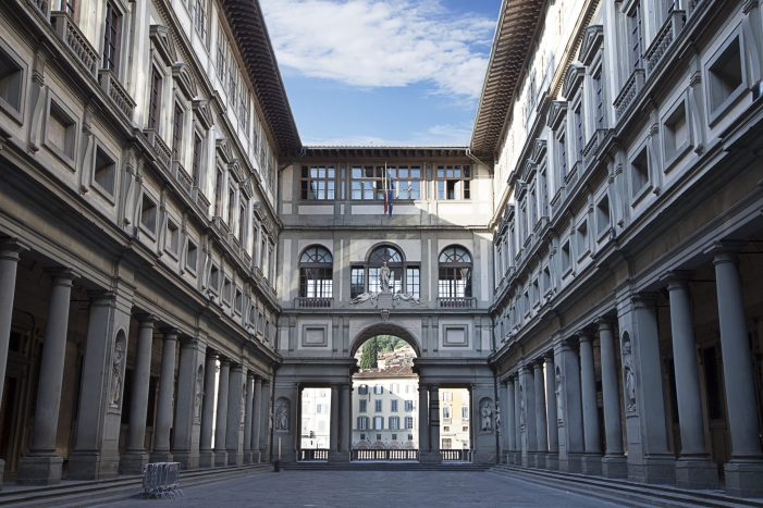 The Uffizi Gallery in Florence - a great destination on a virtual tour of Italy