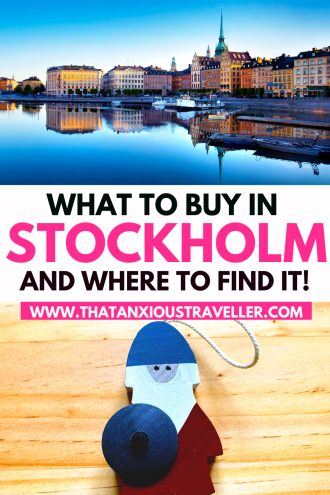 Planning to go shopping in Stockholm, Sweden? Want to know where to find the best clothing shops in Stockholm, or what the best Swedish souvenirs are? Get all the info you need with this guide! Covering everything from the trendy design shops, to where to buy moose socks, you'll be able to find the very best Swedish gifts - with Dala horse, butter knives, licorice, and Swedish candy, you'll be spoiled for choice! #stockholm #stockholmtips #sweden #swedentravel
