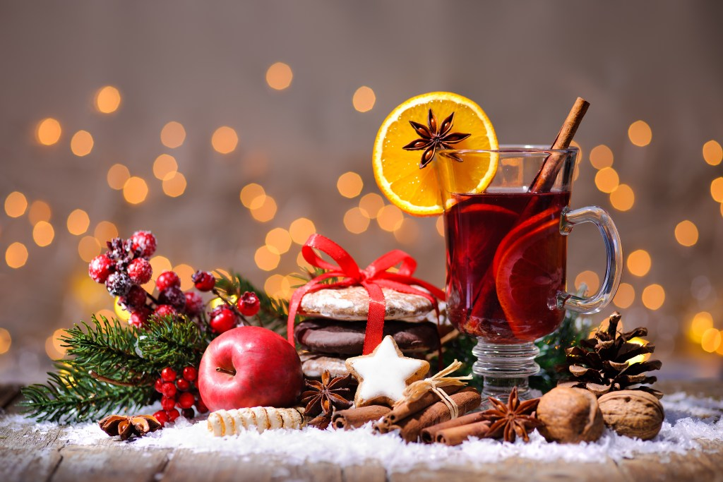 Vin chaud, similar to mulled wine, is a staple part of a Paris Christmas