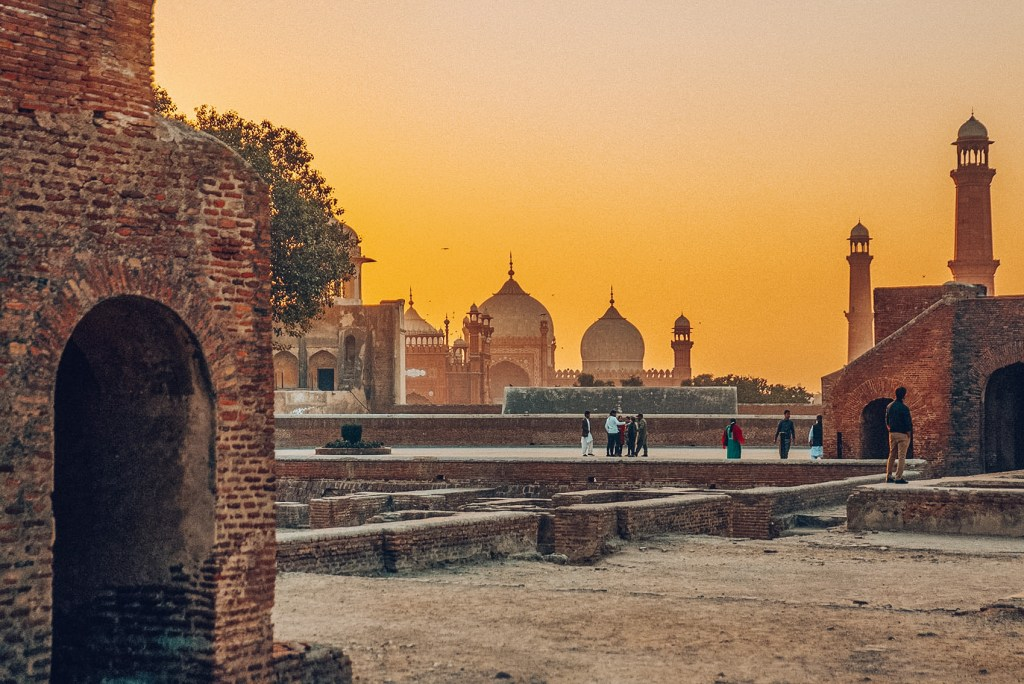 A sunset view of Lahore, Pakistan