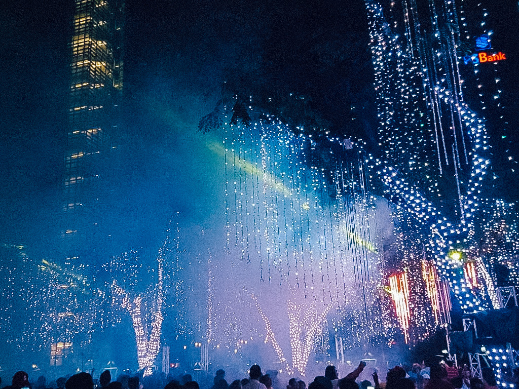 A fireworks display in Manila. This is one of the cheap places to visit in Asia.