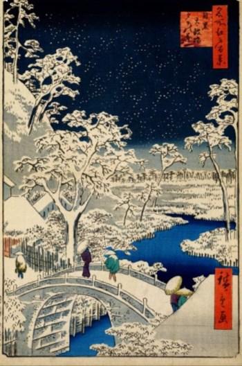 Hiroshige woodblock print.