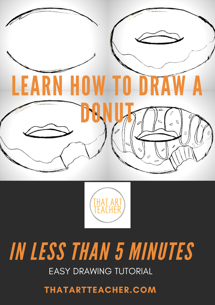 Learn how to draw a donut in less than five minutes!