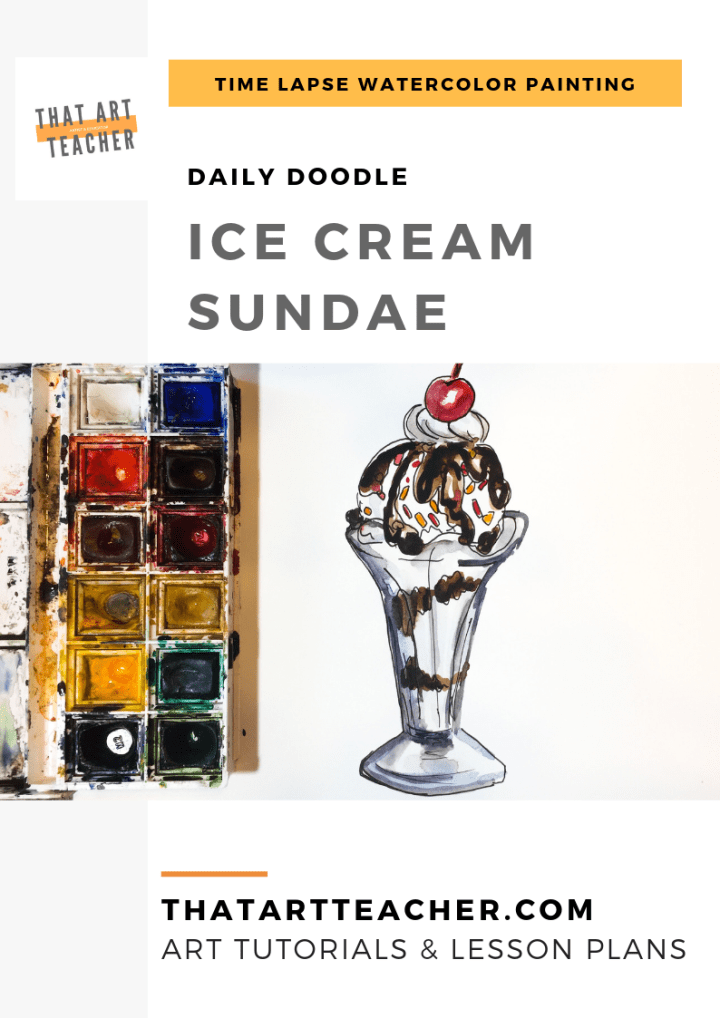 Learn how to paint a chocolate sundae using simple colors and shapes with this watercolor time lapse tutorial!