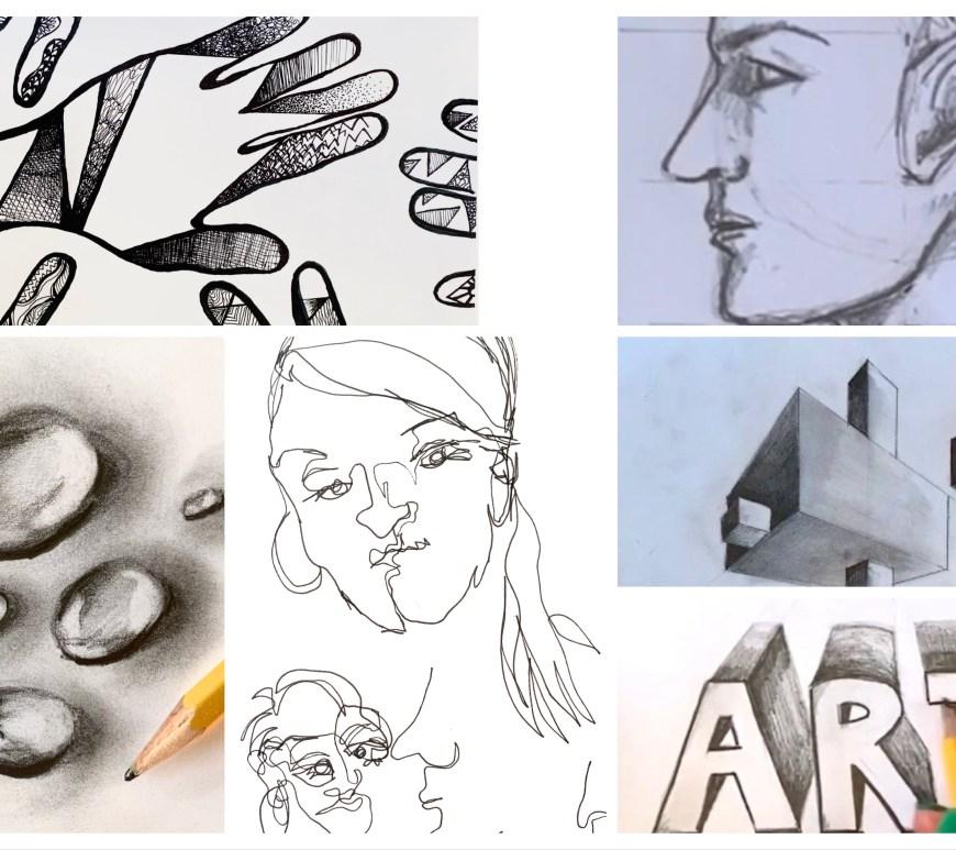 Step by Step Sketchbook Drawing Prompts