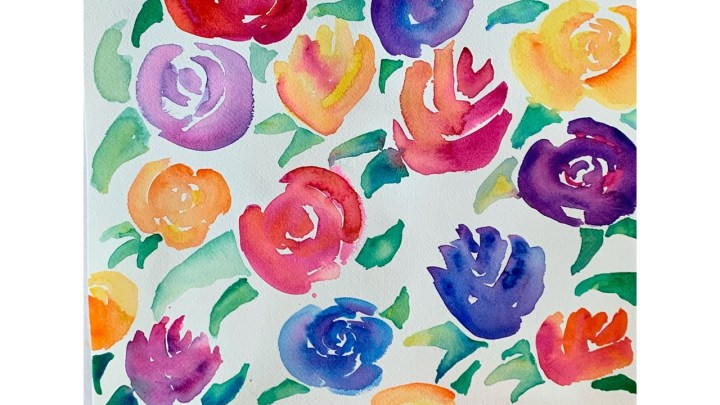 Easy-Watercolor-Flowers