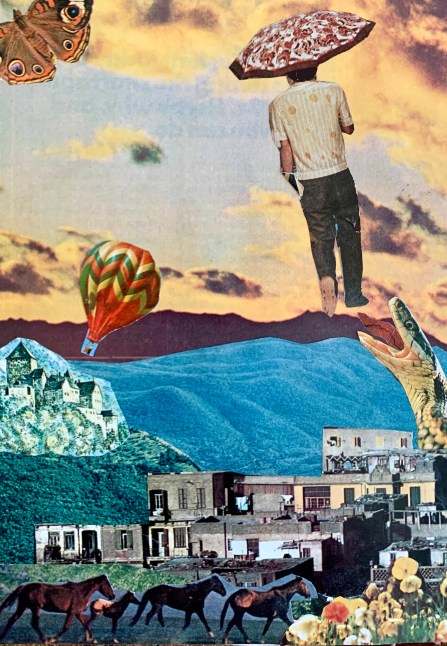 Surrealism Collage Dream Landscape
