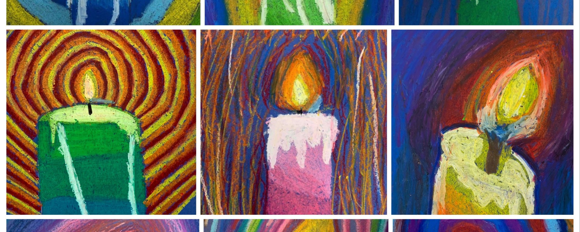 oil pastel candle lesson