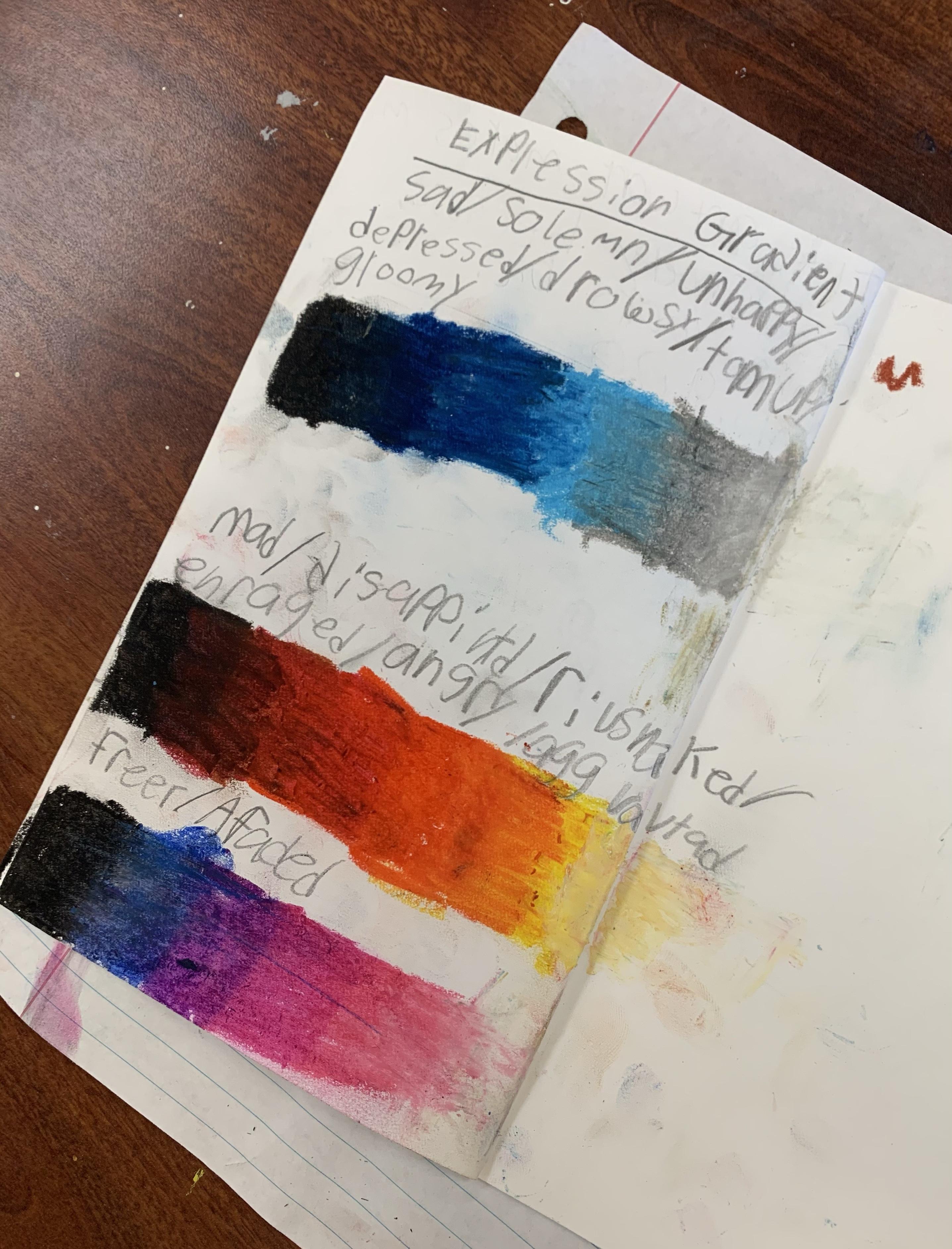 oil pastel gradient