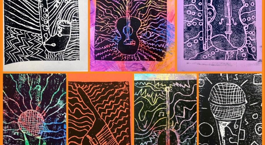 styrofoam printmaking art lesson