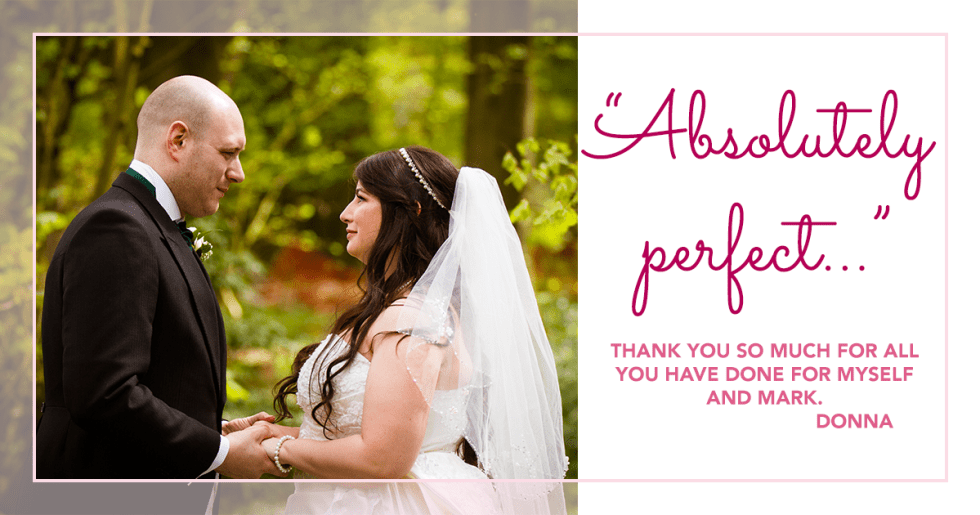 Hargate Hall wedding - on the day wedding planner support testimonial