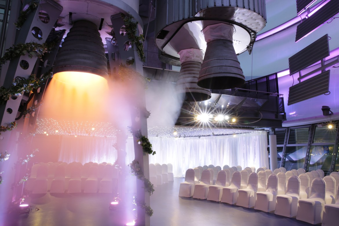 wedding venue inspiration - alternative wedding venues - national space centre