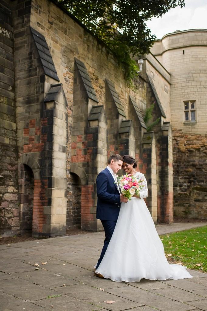 Nottingham castle - real wedding photos