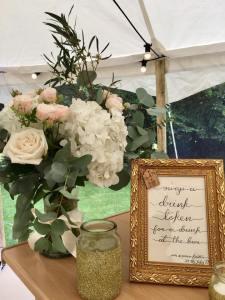Bespoke calligraphy sign for wedding