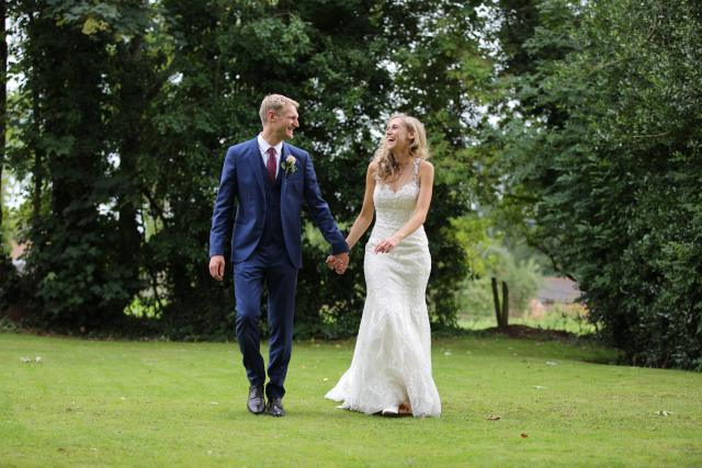 real wedding inspiration - walking on the lawn