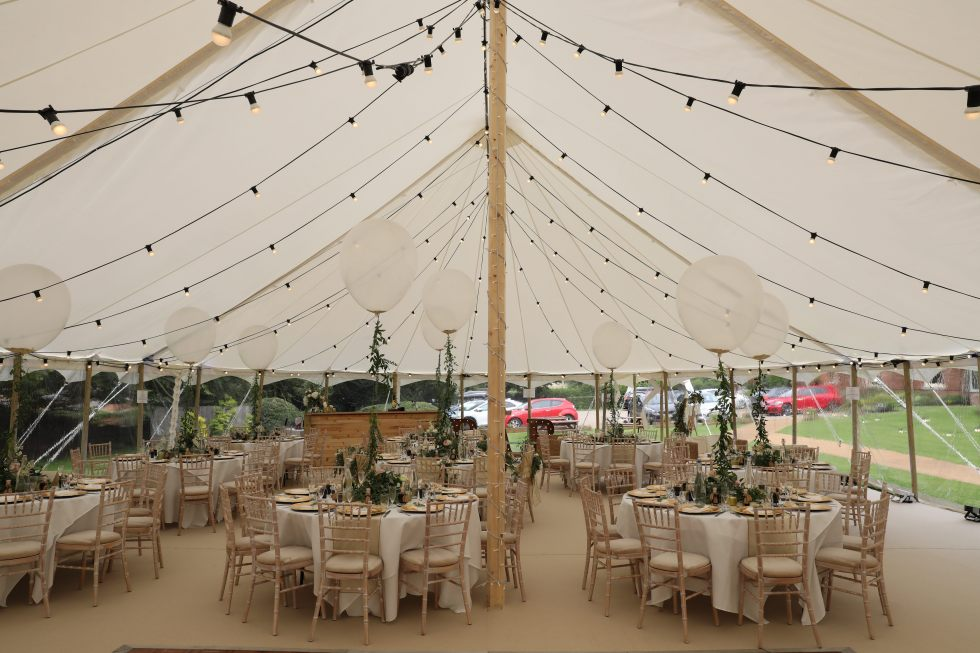 Marquee wedding design for James and Lauras summer wedding